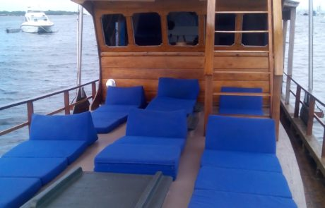 Best Komodo Liveaboard relaxing area